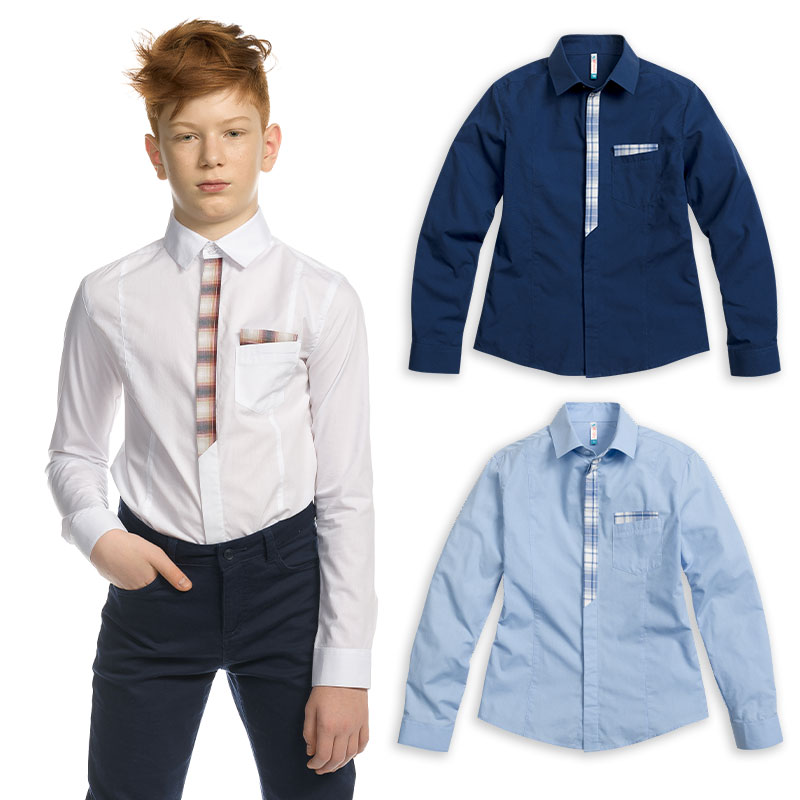 BWCJ7083 сорочка верхняя для мальчиков (1 шт в кор.)