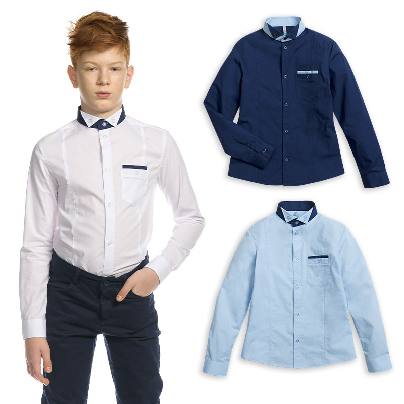 BWCJ7084 сорочка верхняя для мальчиков (1 шт в кор.)