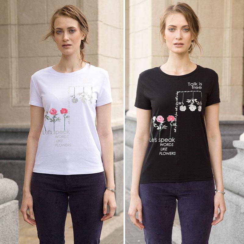 """DFT6664 джемпер (модель """"футболка"""") женский (1 шт в кор.)"""