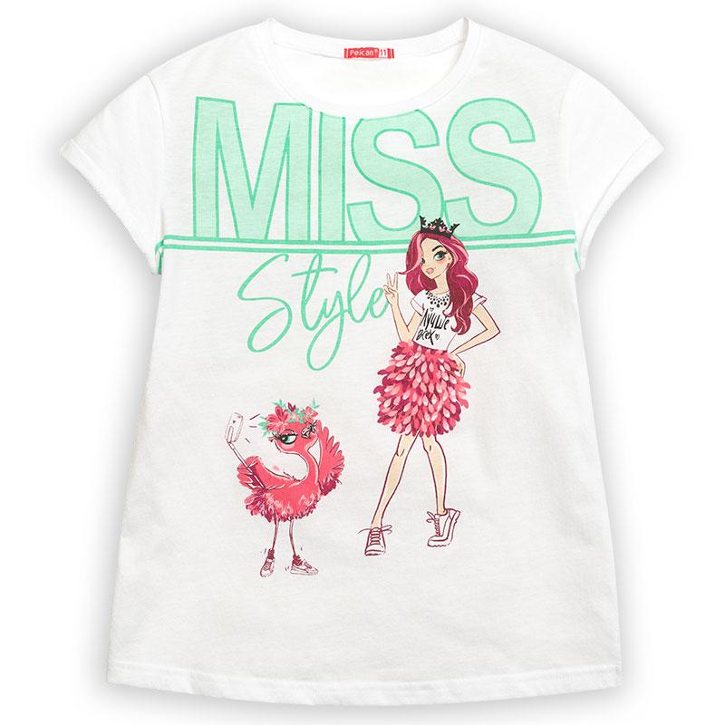 """GFT4110/2 джемпер (модель """"футболка"""") для девочек (1 шт в кор.)"""