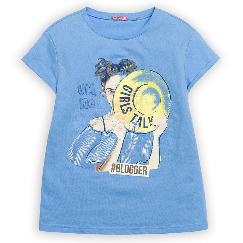 """GFT4111/2 джемпер (модель """"футболка"""") для девочек (1 шт в кор.)"""