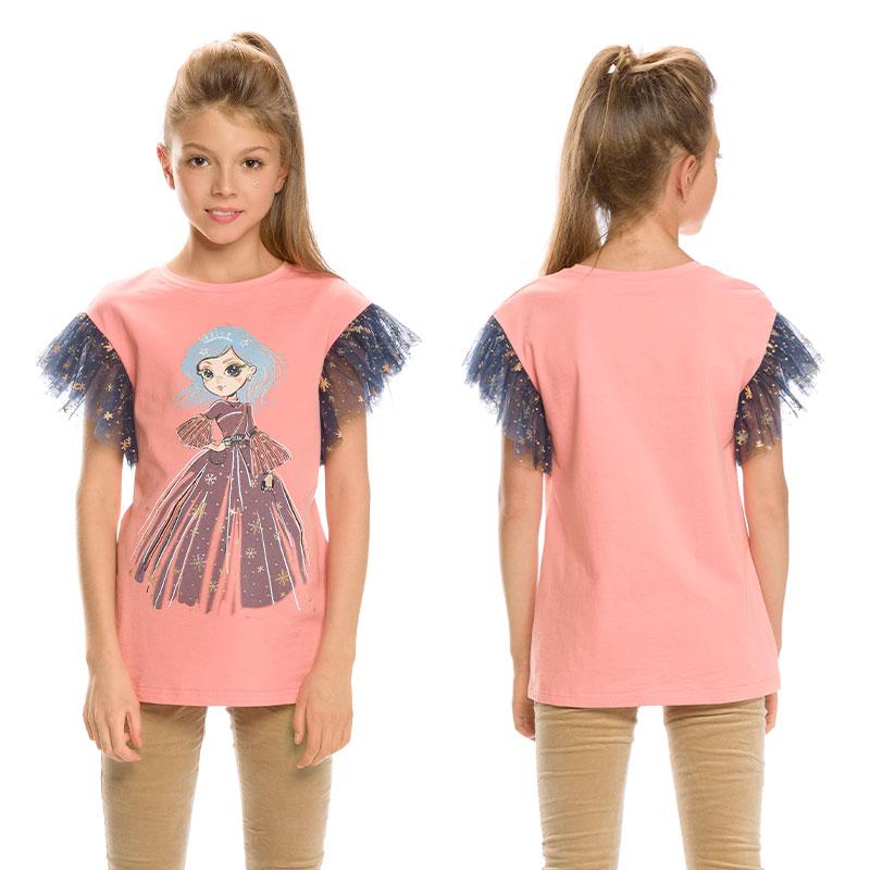 """GFT4154 джемпер (модель """"футболка"""") для девочек (1 шт в кор.)"""