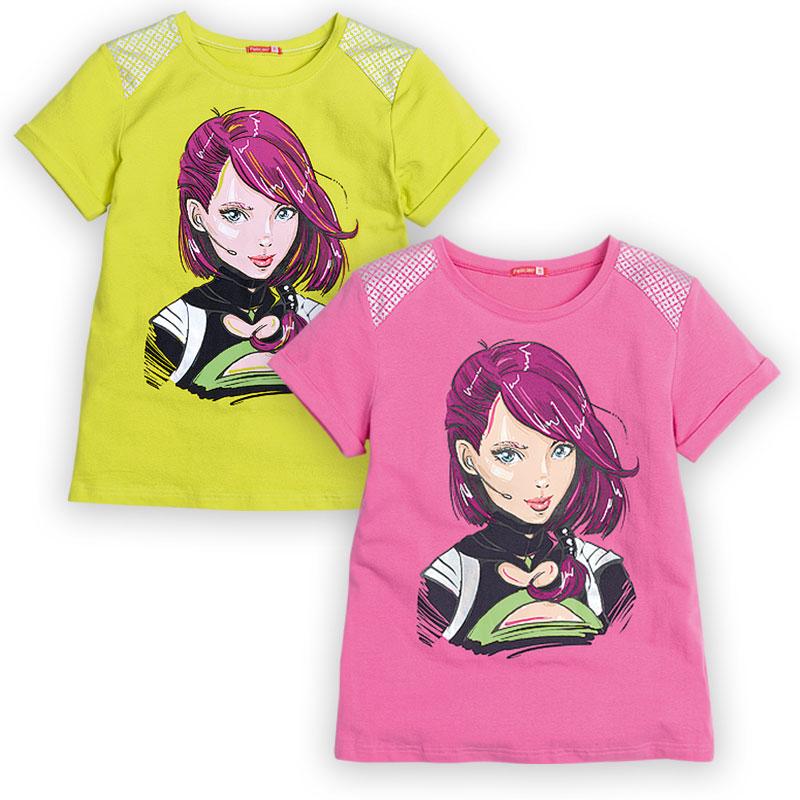 """GTR488 джемпер (модель """"футболка"""") для девочек (1 шт в кор.)"""