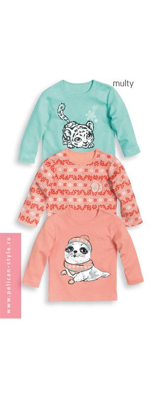 SJ(3)418 рубашечка детская с длинными рукавами