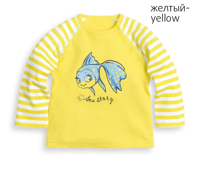 SJ425 рубашечка детская с длинными рукавами